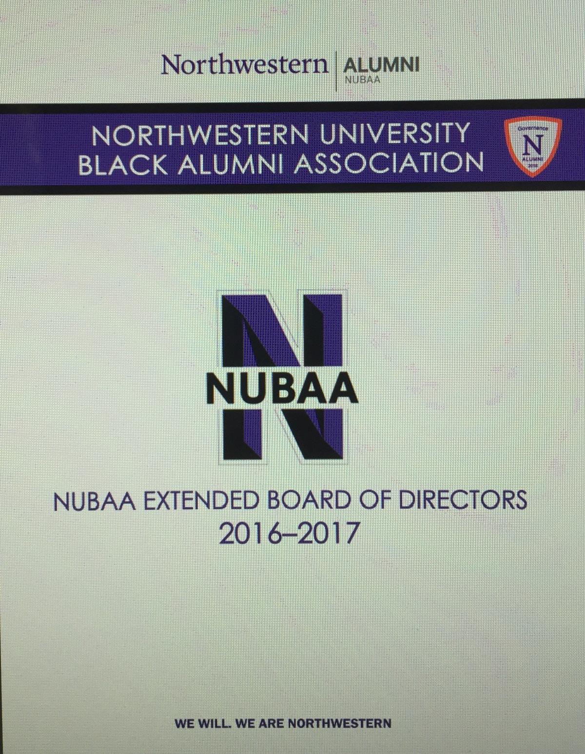 NUBAA Succession Plan and OrientationActivities